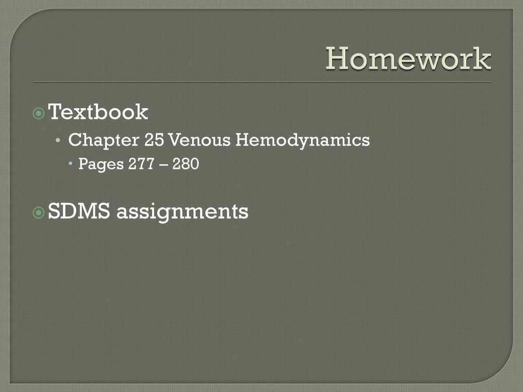 sdms homework