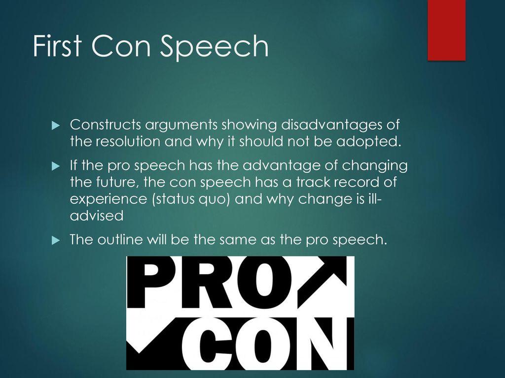 pro con speech