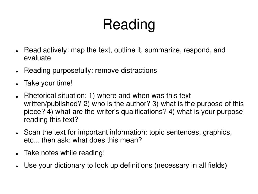 what does topic mean in reading