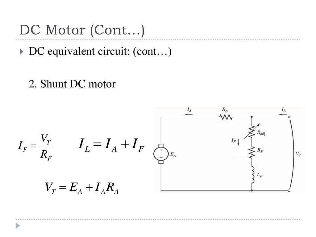 Shunt Dc Motor Circuit