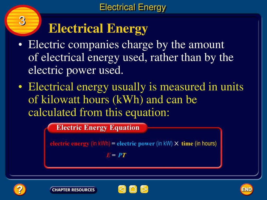 15 Electrical Energy 3 Electric Companies