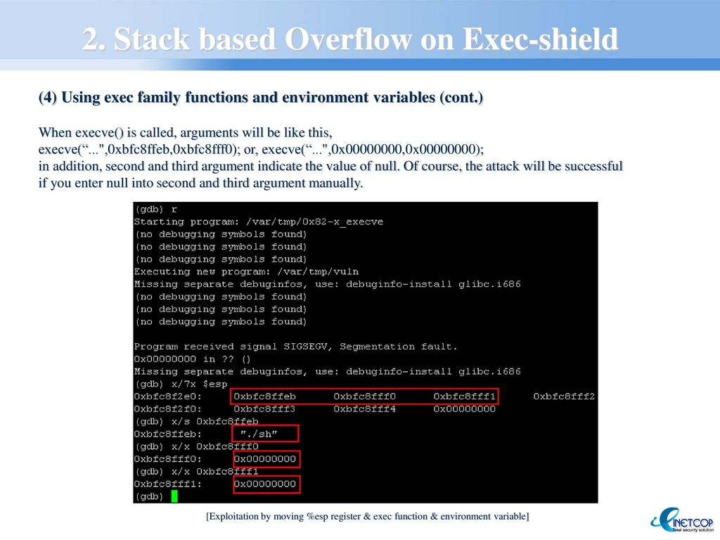 New Local Remote Exploit To Get Over Exec Shield Protection Ppt