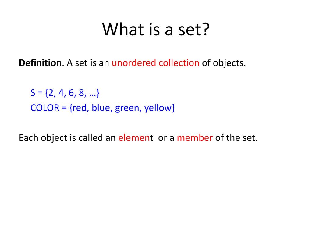 What is a set