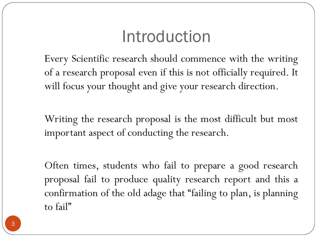scientific research proposal