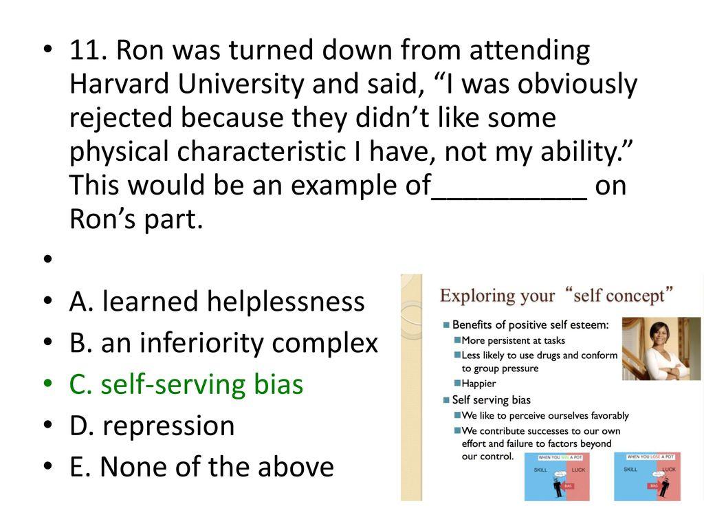 inferiority complex example