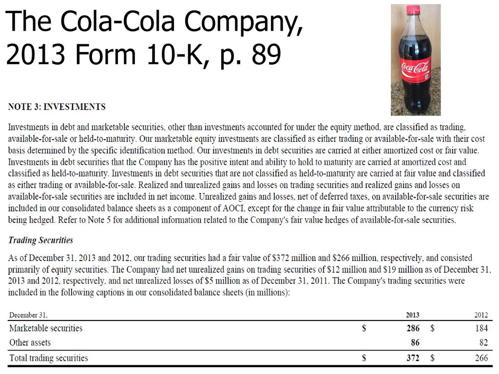What does Coca-Cola\'s Form 10-k communicate about its short-term ...