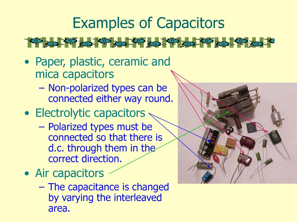 Capacitors A Capacitor Is Device For Storing Charge And Electrical Flash Tube Circuit Examples Of