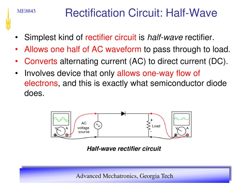 Advanced Mechatronics Ppt Download Full Wave Rectification Circuit 10 Half Simplest Kind