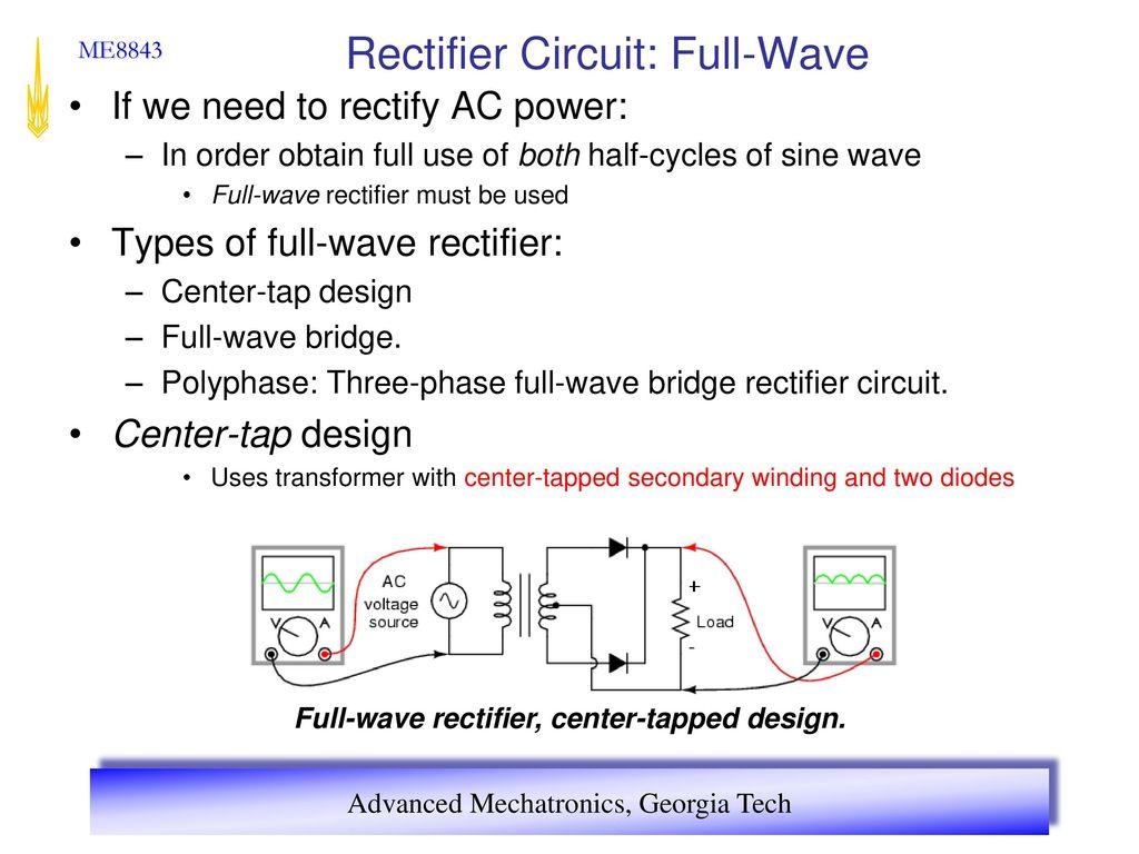 Advanced Mechatronics Ppt Download Fullwave Bridge Rectifier Circuit 13 Full Wave
