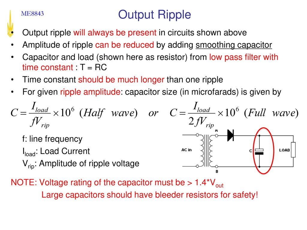Advanced Mechatronics Ppt Download An Example Of Mixed Resistors Circuit Is Shown Below Output Ripple Will Always Be Present In Circuits Above Amplitude