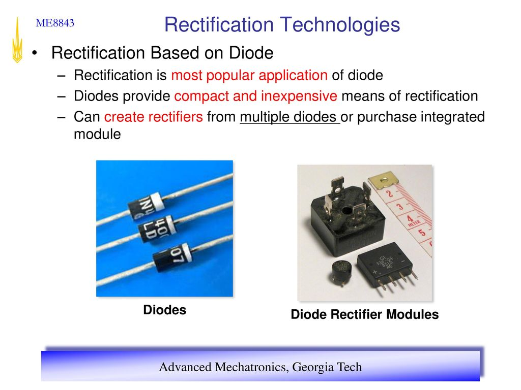 Advanced Mechatronics Ppt Download Most Popular Electronic Circuits 6 Rectification Technologies