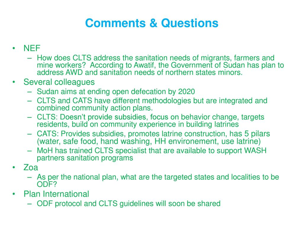 WASH sector National coordination meeting - ppt download