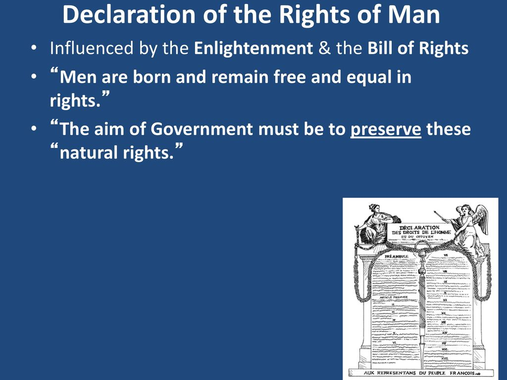 bill of rights vs declaration of the rights of man