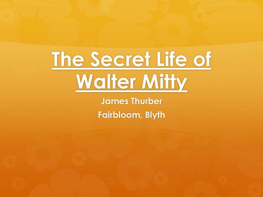 Walter mitty essay