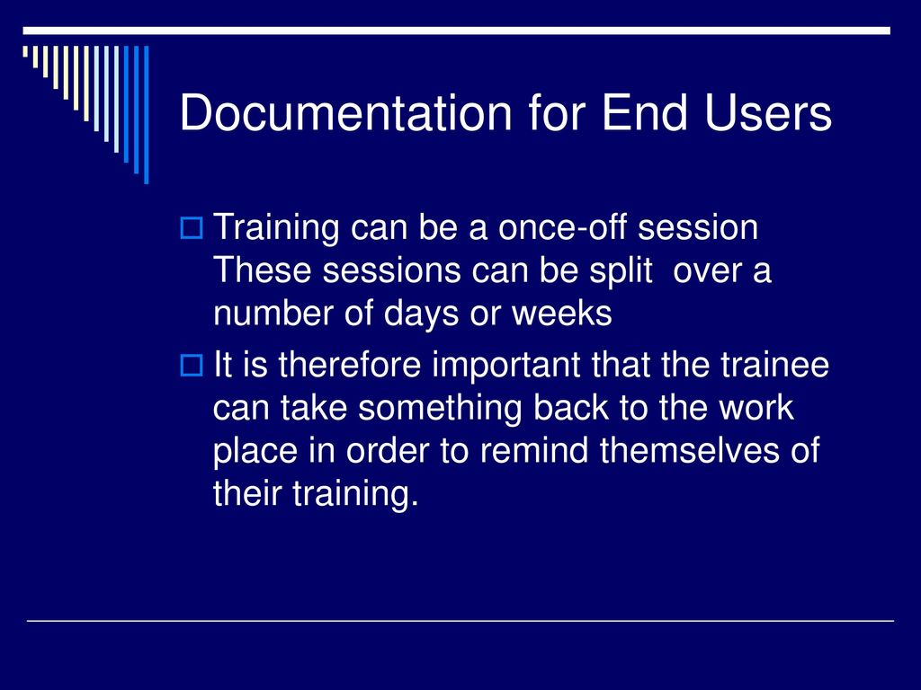 End User Support – User Training - ppt download