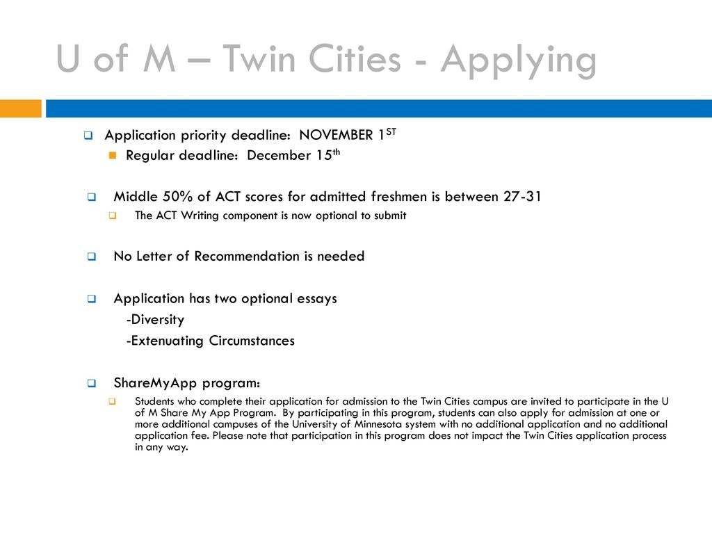 Uw Madison Application >> U Of M Schools And Uw Madison Ppt Download