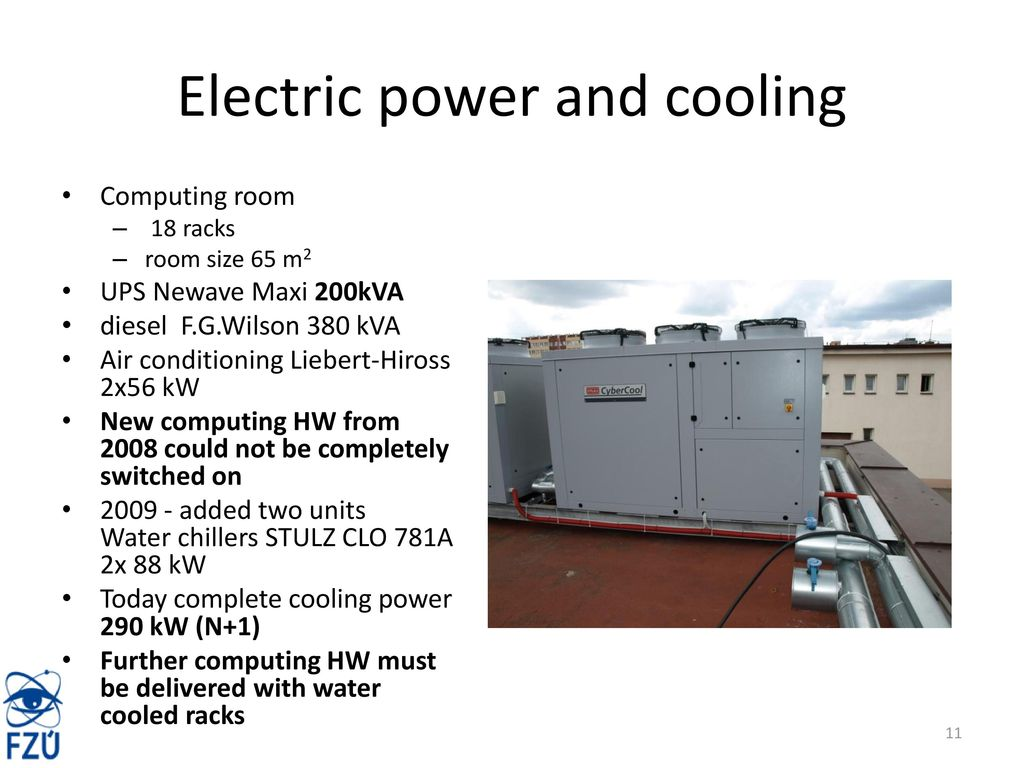 Prague Tier2 Site Report Ppt Download Stulz Wiring Diagram 11 Electric Power And Cooling