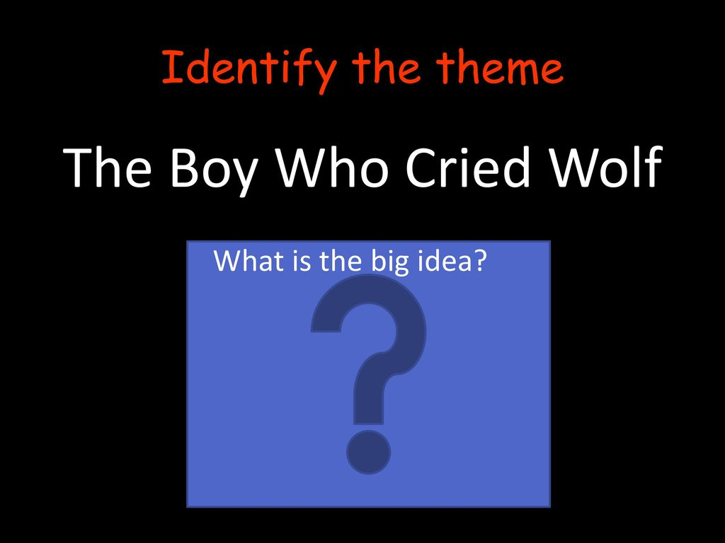 Theme What Is The Big Idea Ppt Download