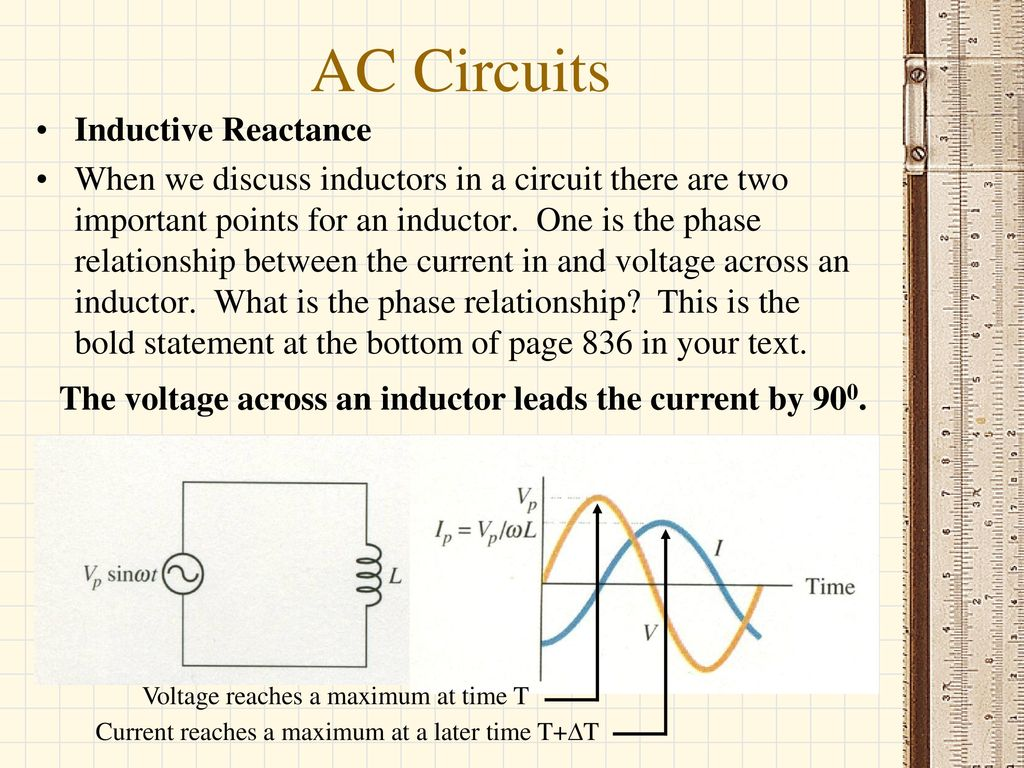 Ac Circuits Current Peak To And Rms Capacitive Reactiance Inductance In An Circuit 18 Inductive Reactance