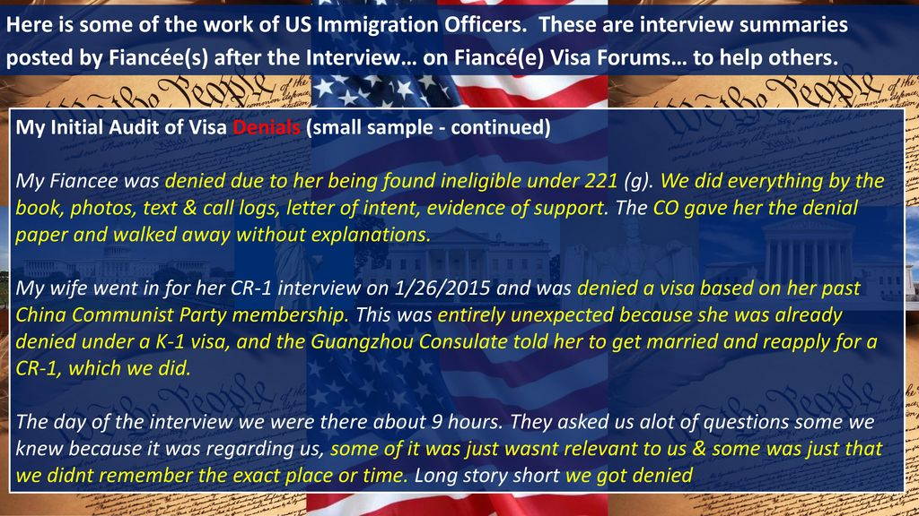 on Fiancé(e) Visa Fraud by an INCOMPETENT and CORRUPT - ppt download