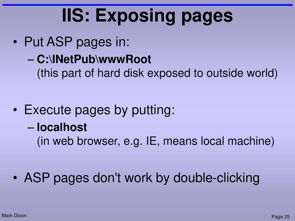 18 Web Applications Server Side Code Asp Ppt Download Intranet Diagram Apache Iis And Pws 25