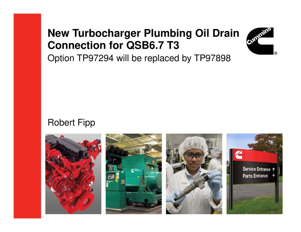 New Turbocharger Plumbing Oil Drain Connection for QSB6 7 T3