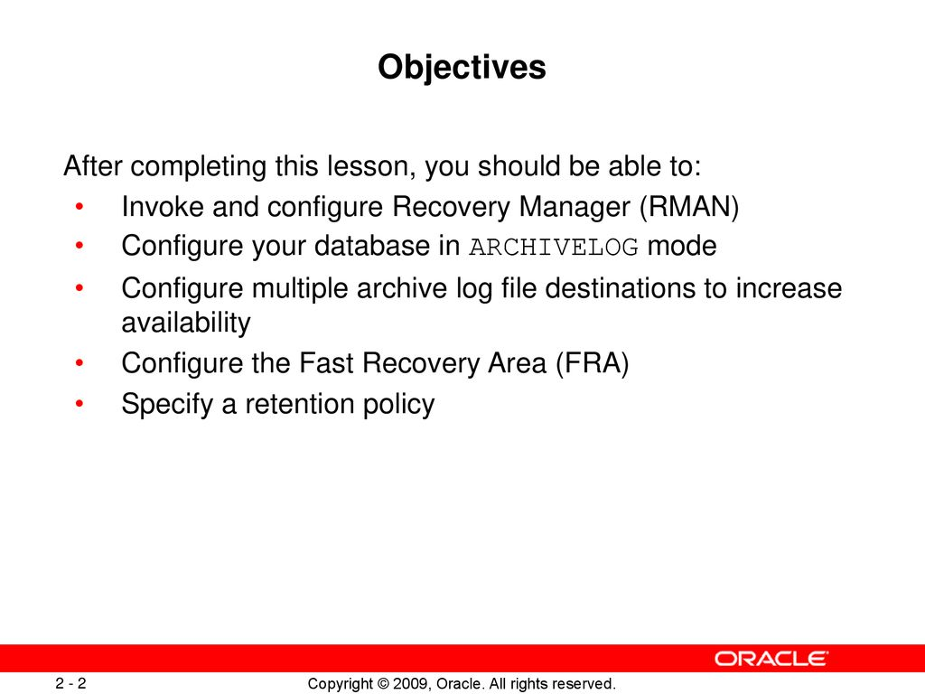 configuring for recoverability ppt download