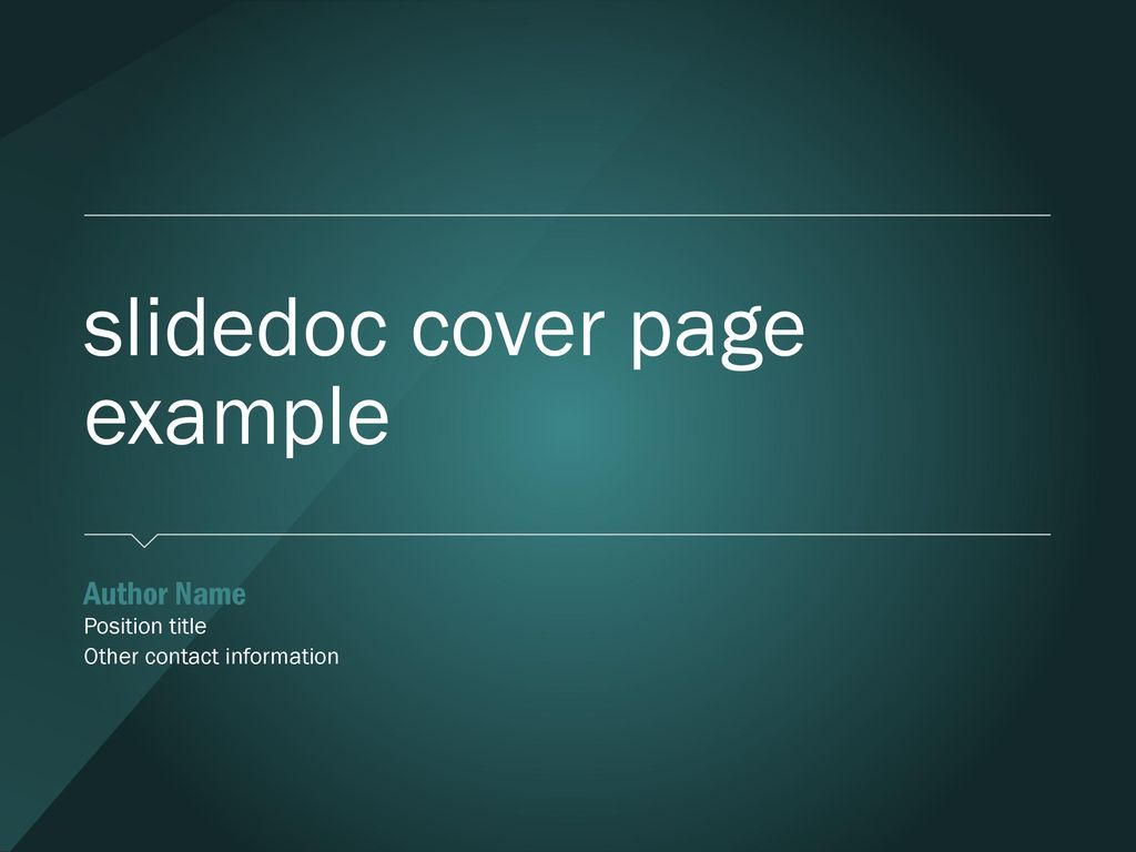 Slidedoc Cover Page Example Ppt Download