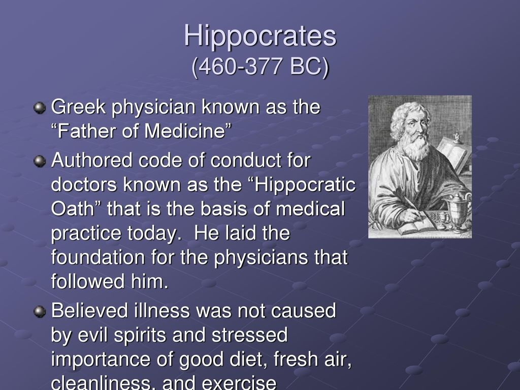 Contributions of Hippocrates