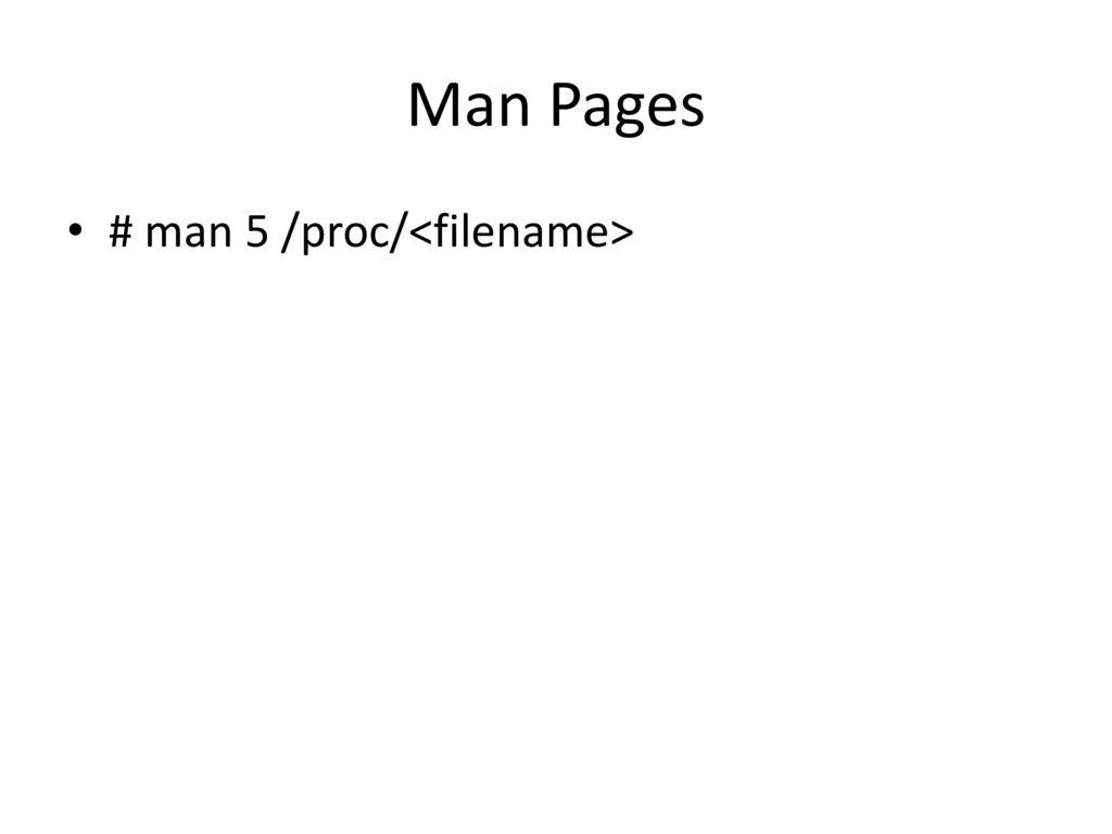 Proc File System Sadi Evren SEKER  - ppt download