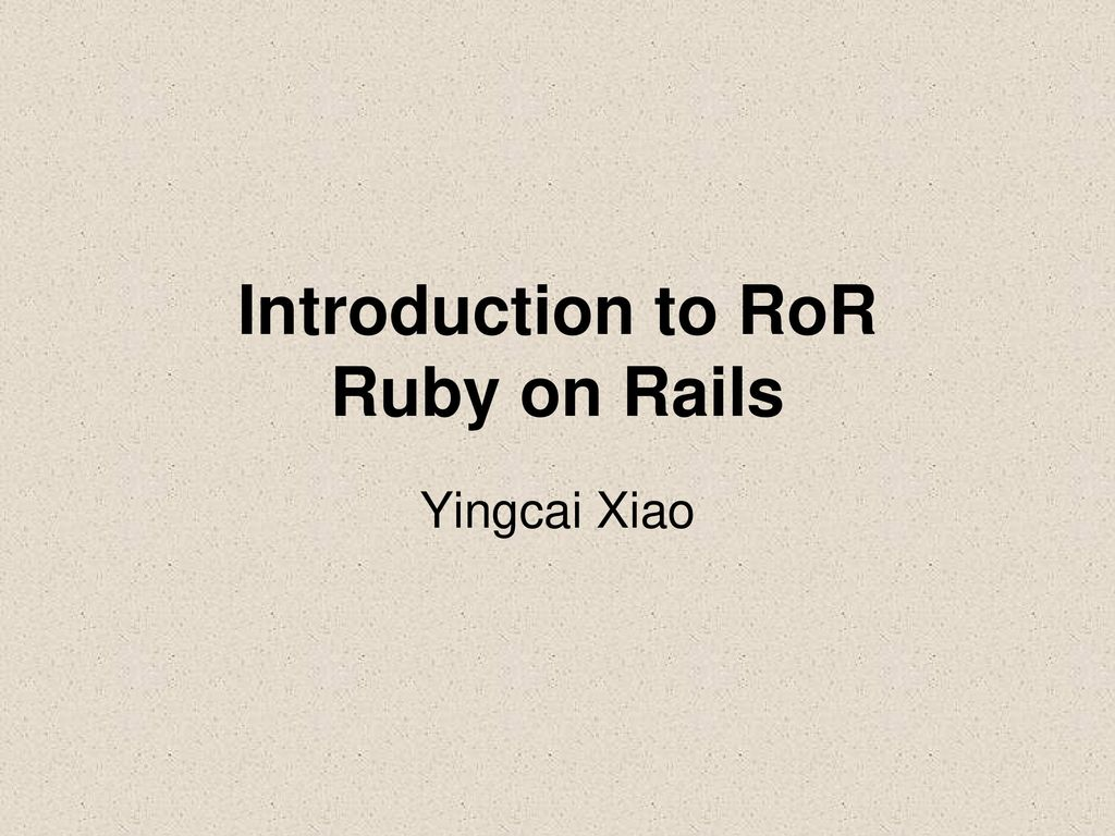 Agile web development with ruby and rails ppt download.
