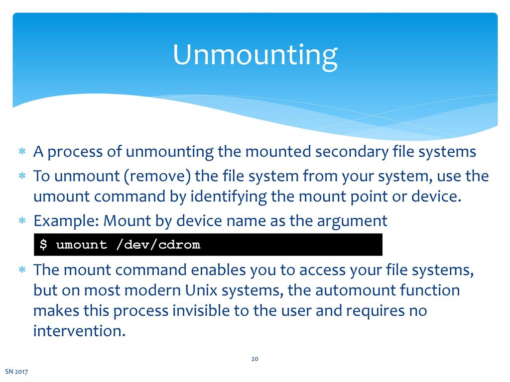Chapter 6 File Systems CSNB113 SYSTEM ADMINISTRATION - ppt