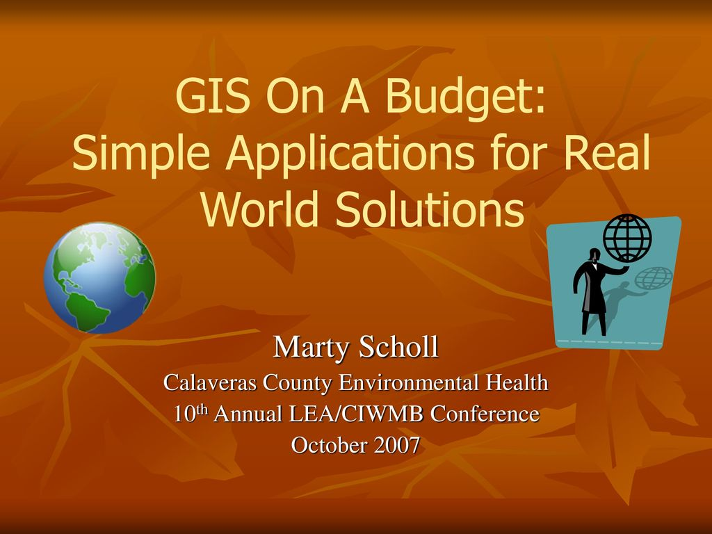 gis on a budget simple applications for real world solutions ppt