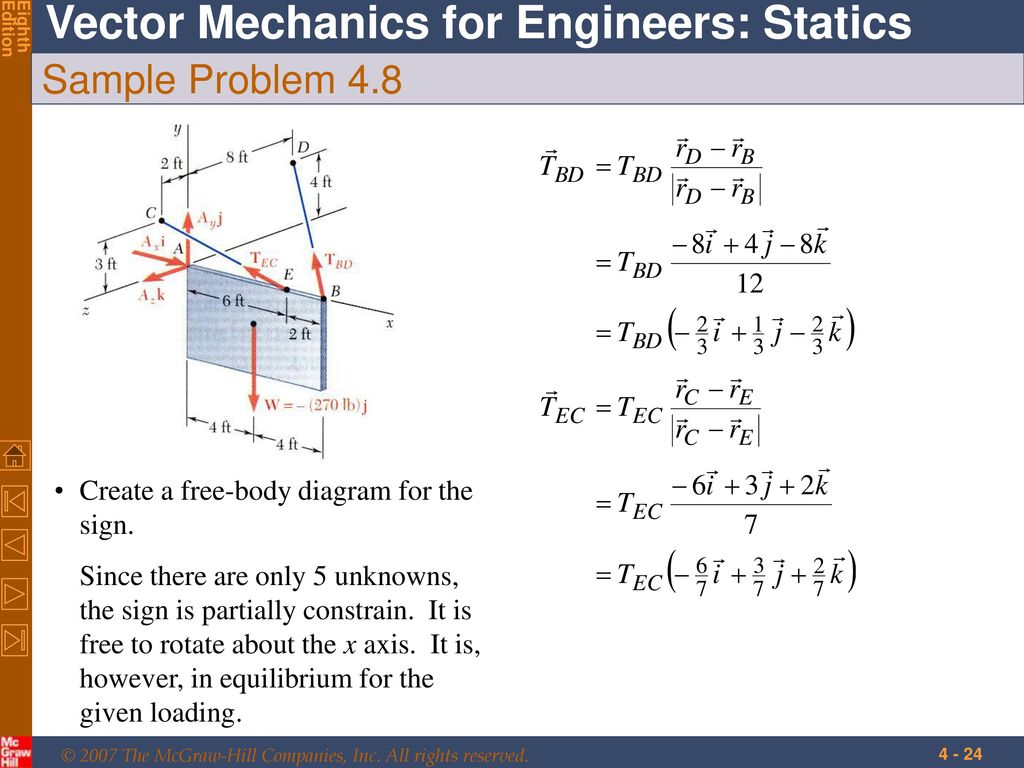 Equilibrium Of Rigid Bodies Ppt Download Engineering Statics Problem Solutions Free Body Diagram Sample 48 Create A For The Sign