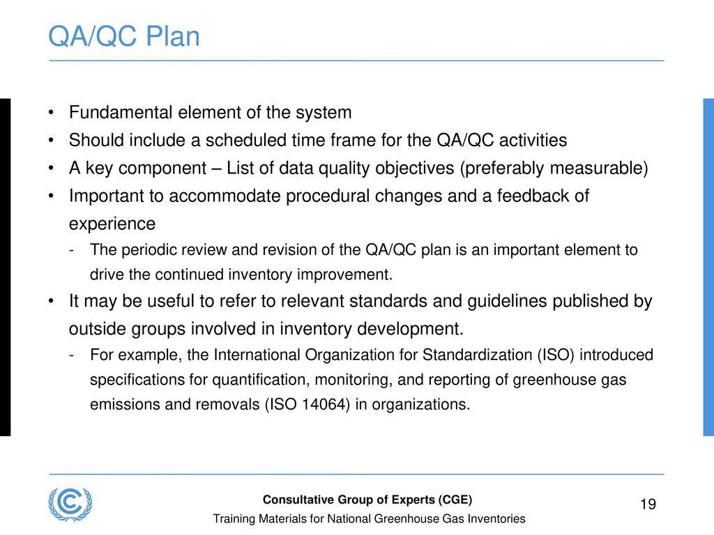 19 QA/QC Plan ...