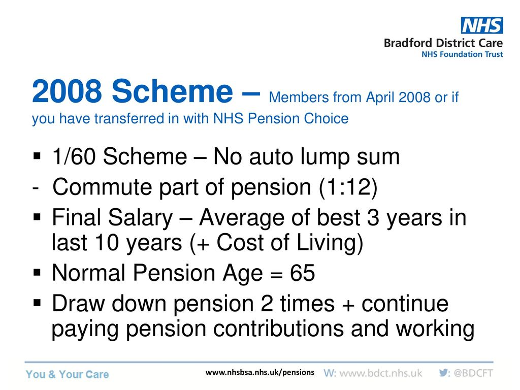 The nhs pension scheme (england & wales) ppt download.