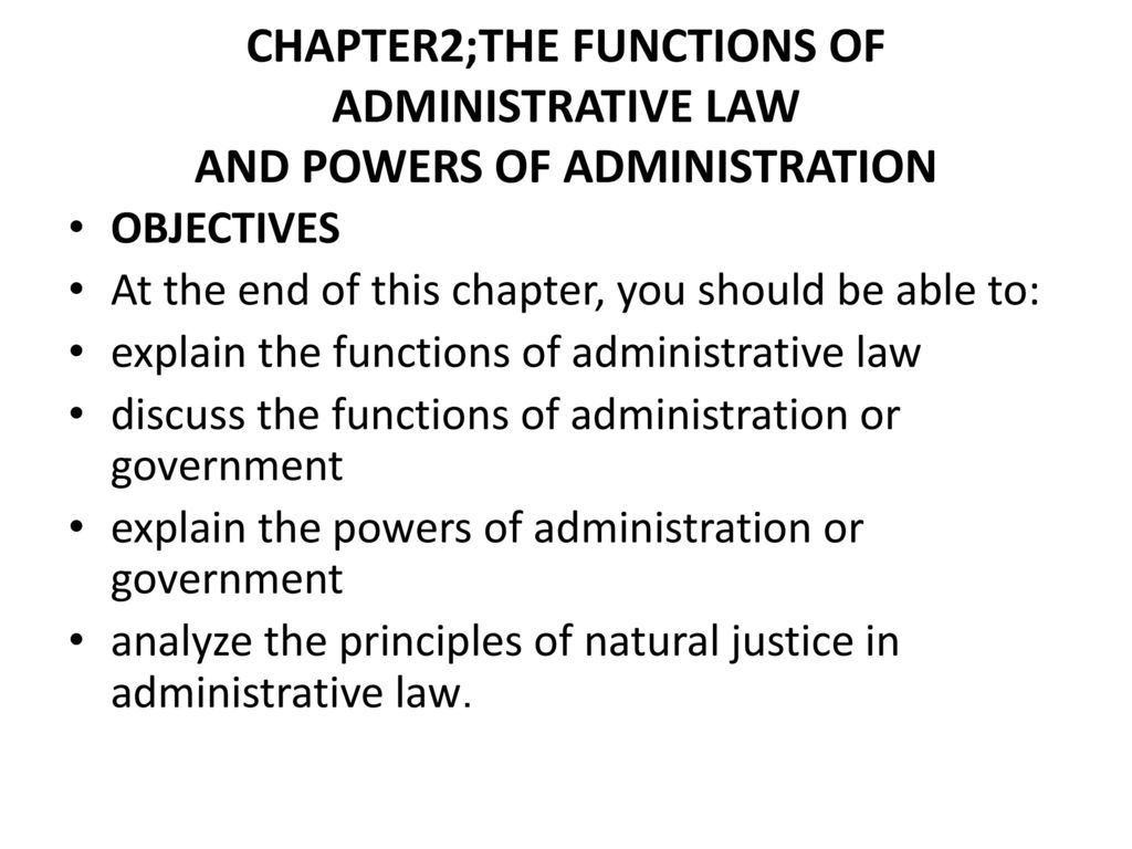 Functions and principles of administrative law 91
