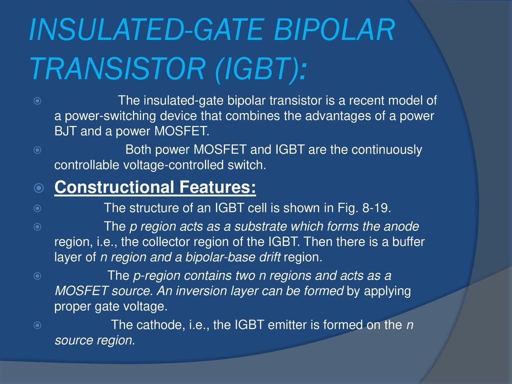 Igbt Ppt Download Switch Insulated Gate Bipolar Transistor