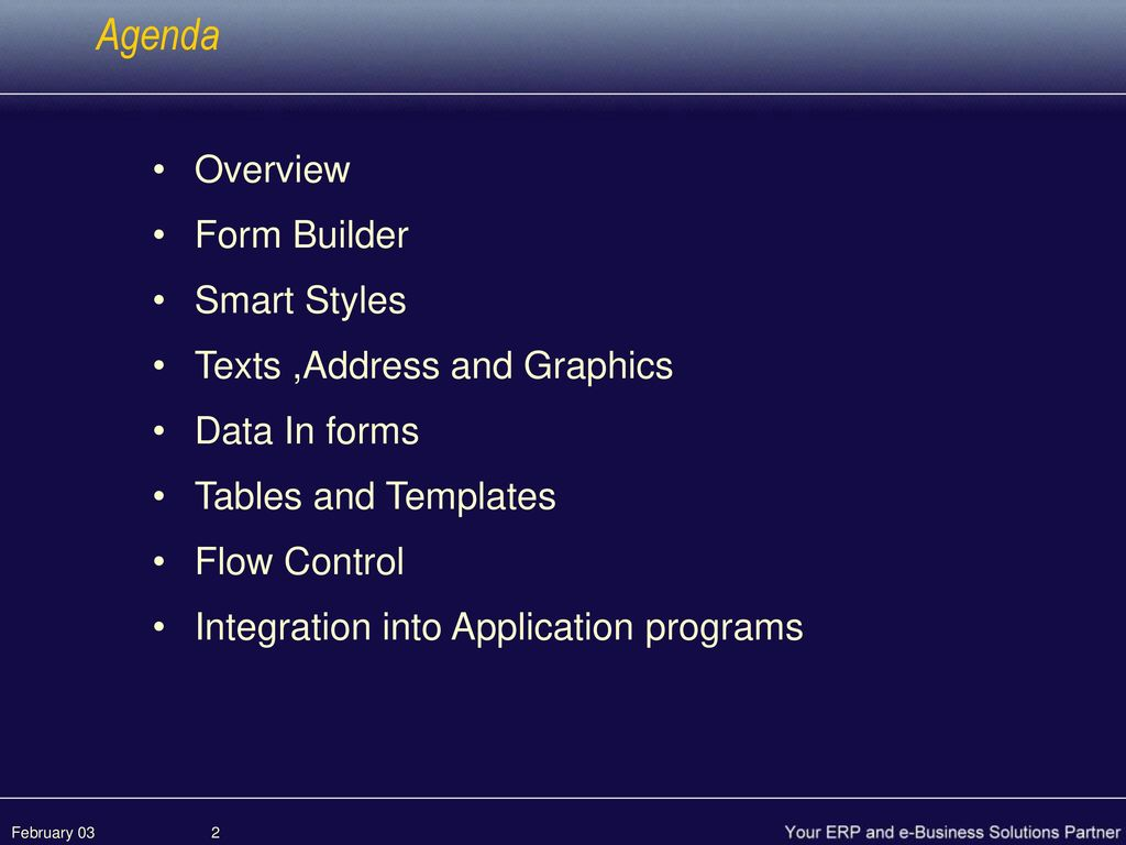 SAP Smart Forms February ppt download