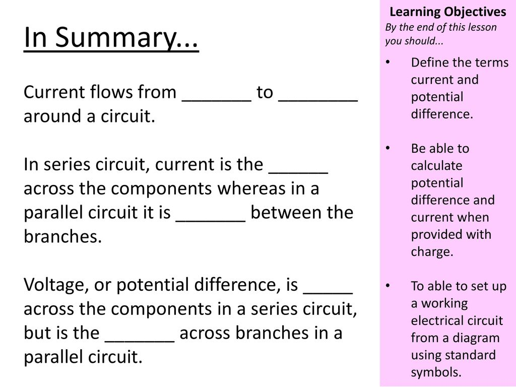 Use The Idea Of Static Electricity To Explain Ppt Download Parallel Electrical Circuit Definition Current Flows From Around A