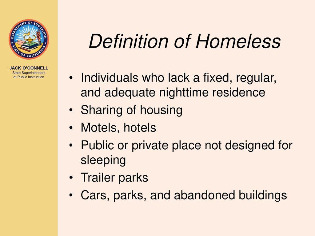 homeless education mckinney-vento homeless education act title x