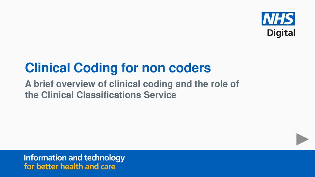 Clinical Coding for non coders