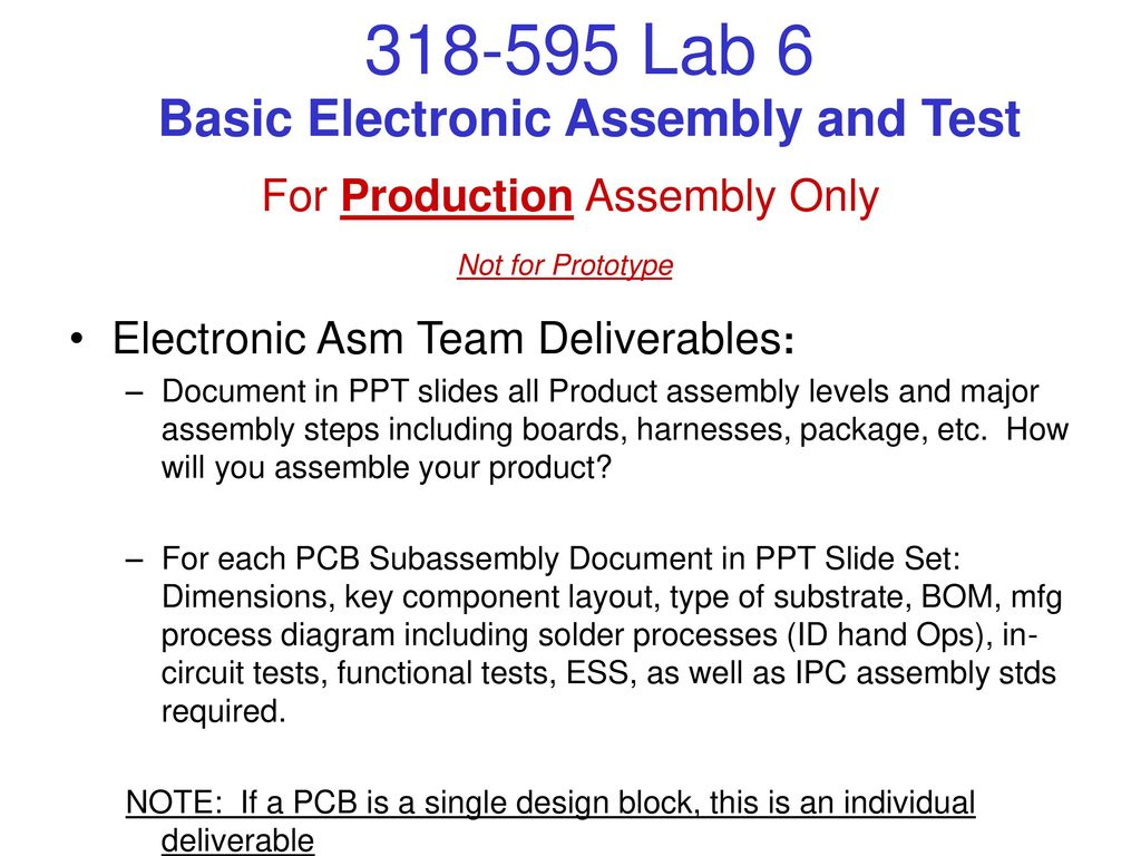 Basic Electronic Assembly and Test - ppt download