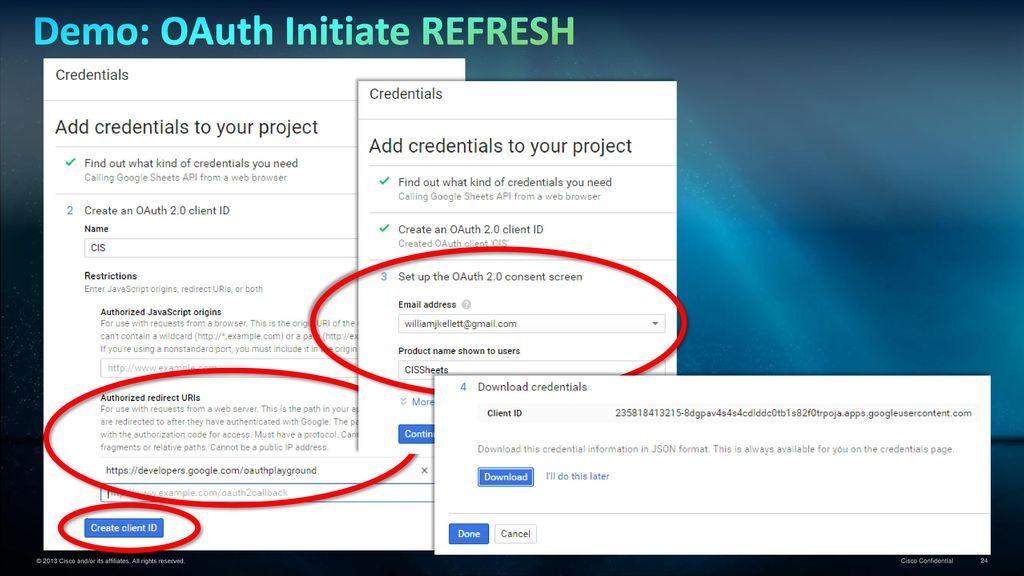 Data Virtualization Tutorial… OAuth Example using Google Sheets