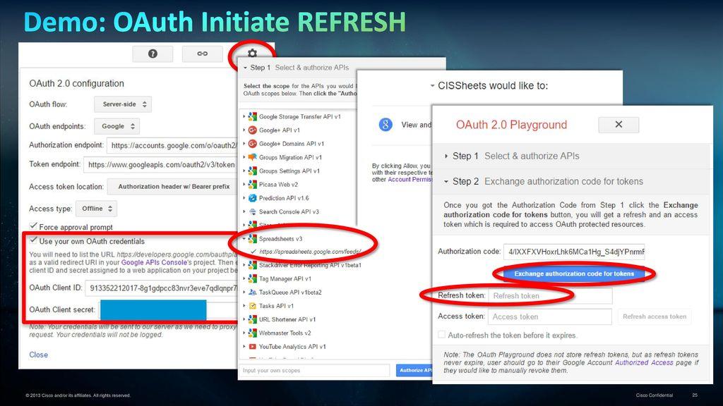 Data Virtualization Tutorial… OAuth Example using Google