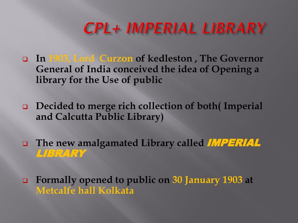 National Library Of India Ppt Download