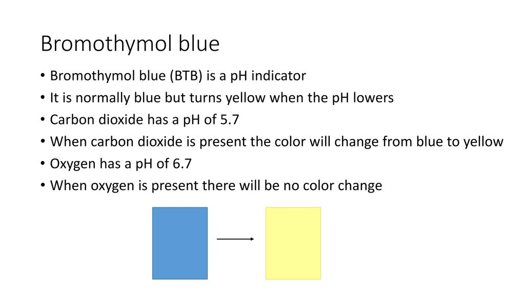 how to use bromothymol blue