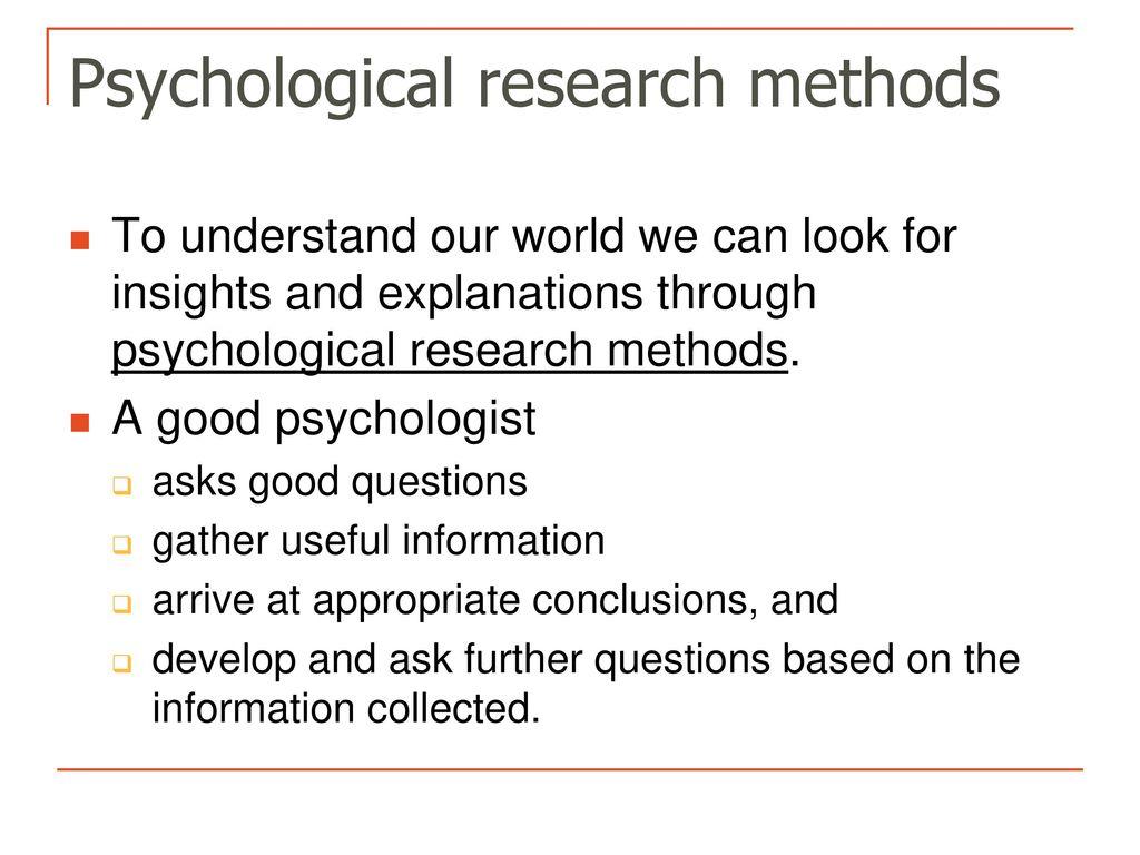 good psychology questions