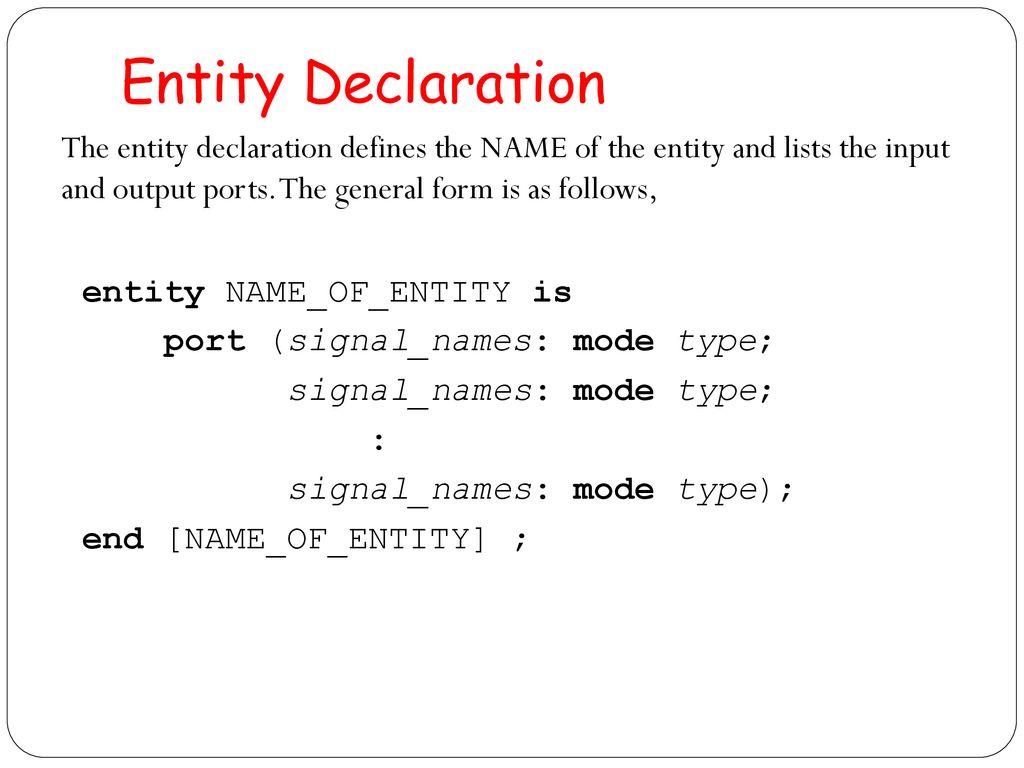 VHDL Basics  - ppt download