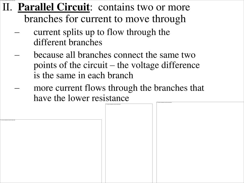 Series And Parallel Circuits Ppt Download Circuit Contains Two Or More Branches For Current To Move Through